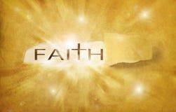 Glaube entdeckt stock abbildung