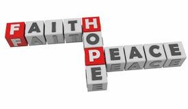 Glauben-Hoffnung und Frieden Lizenzfreies Stockfoto