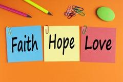 Glauben-Hoffnungs-und Liebes-Konzept lizenzfreies stockfoto