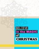 Glauben Sie an die Magie von Weihnachten Stockfotografie