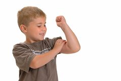 Glauben Sie diesem Muskel Lizenzfreies Stockfoto