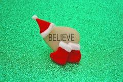 Glauben Sie an Santa Claus Concept Image Lizenzfreie Stockfotos