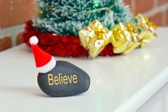 Glauben Sie an Santa Concept Stockfoto