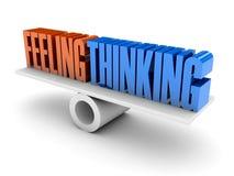 Glaubende und denkende Balance. Stockbild