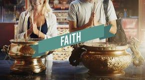 Glaubensglauben-Geistigkeits-Schrein-Tempel-Konzept Stockfotos