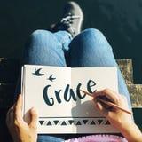 Glaubensglauben-Hoffnungs-Liebes-Konzept stockbilder