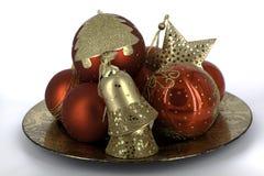 Glaubes brillantes de la decoración de la Navidad Fotografía de archivo