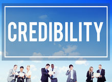Glaubwürdigkeits-Partnerschafts-Bestimmungs-Inspirations-Konzept lizenzfreie stockfotos