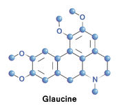 Glaucine bronchodilator and antiinflammatory. Glaucine is an alkaloid, it has bronchodilator and antiinflammatory effects, acting as a PDE4 inhibitor and calcium Stock Image