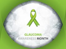 Glaucoma Awareness Month brochure Royalty Free Stock Image