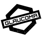 Glaucoma rubber stamp Stock Photos