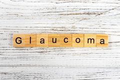 GLAUCOMA word made with wooden blocks concept Stock Images
