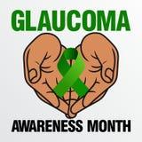 Glaukom-Bewusstsein Stockbild