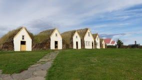 Glaumbaer, erster Bauernhof auf Island stockfotos