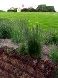 Glaumbaer historic village. Image of traditional icelandic turf houses, Glaumbaer museum Royalty Free Stock Image