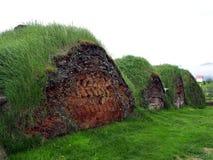 Glaumbaer historic village. Image of traditional icelandic turf houses, Glaumbaer museum Stock Image