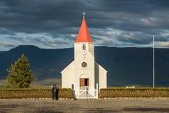 Glaumbaer kościół, Iceland obrazy stock