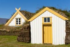 Glaumber - granja islandesa típica Foto de archivo libre de regalías