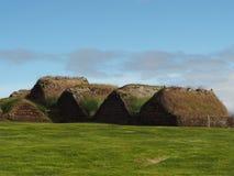 Glaumber - museo piega all'aperto - islandese di tradicional alloggia w Immagini Stock