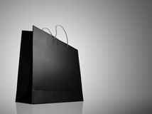 Glaze shopping bag with lighting highlight Royalty Free Stock Image