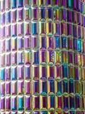 Glaze tile jewel color tile horizontal line Royalty Free Stock Photo