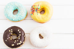 Glazed american donuts Stock Photo