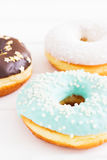 Glazed american donuts Royalty Free Stock Images