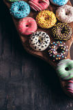 Glazed American donuts Royalty Free Stock Photography