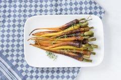 Glazed Baby Rainbow Carrots Stock Photography