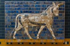 Glazed brick panel Stock Images