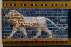 Glazed brick panel Royalty Free Stock Photos