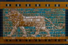 Glazed brick panel Royalty Free Stock Images