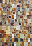 Glazed brick wall. Detail of glazed brick wall Stock Photography