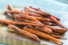 Glazed carrots Royalty Free Stock Images
