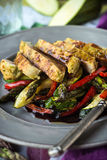 Glazed Chicken with Vegetables Royalty Free Stock Photography
