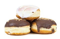 Glazed and chocolate donuts Stock Image