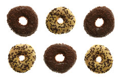 Glazed and Chocolate Doughnuts Stock Images