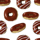Glazed colored donuts seamless pattern Stock Image