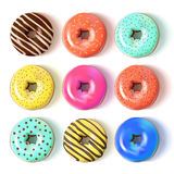 Glazed colored donuts set 3D. Vector Illustration. Glazed colored donuts set 3D. Design element. Vector Illustration Stock Photos