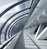 Glazed corridor in office Stock Images