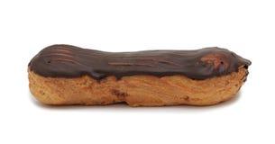 Glazed cream cake, isolated Stock Images