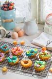 Glazed delicious donuts Stock Photo
