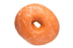 Glazed Donut with Clipping Path Stock Photo