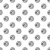 Glazed donut pattern vector. Glazed donut pattern seamless in simple style vector illustration Stock Photos