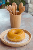 Glazed donut Royalty Free Stock Photography