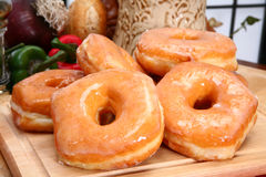 Glazed Donuts Stock Image
