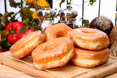 Glazed Donuts Stock Photo