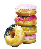 Glazed donuts in an assortment Royalty Free Stock Photos