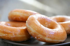 Glazed donuts royalty free stock photography
