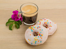 Glazed donuts Stock Images